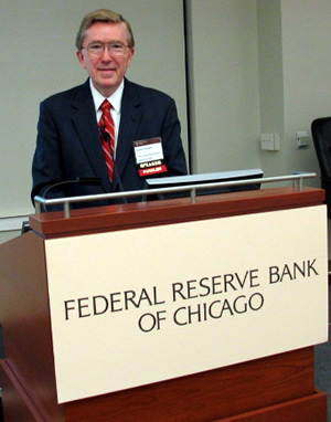Ed Gordon speaking at the Federal Reserve Bank of Chicago