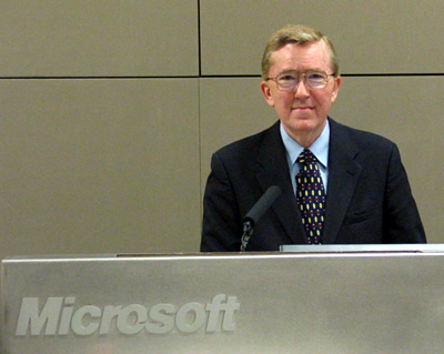 Ed Gordon speaking at Microsoft