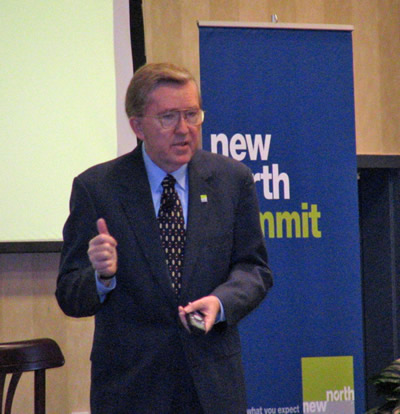 Ed Gordon speaking at New North Summit
