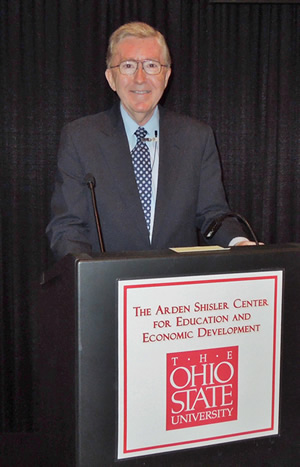 Ed Gordon speaking at Ohio State University